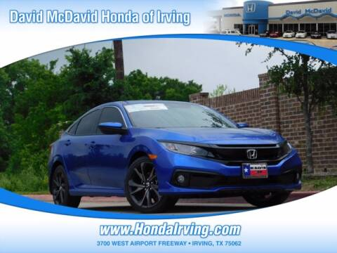 2020 Honda Civic for sale at DAVID McDAVID HONDA OF IRVING in Irving TX