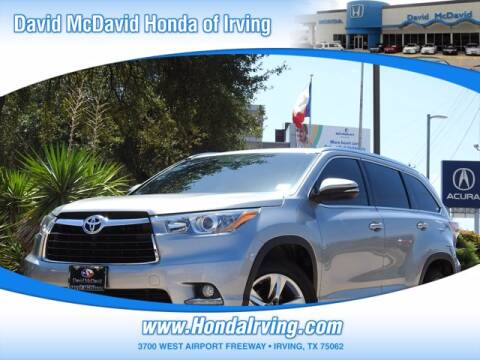 2015 Toyota Highlander for sale at DAVID McDAVID HONDA OF IRVING in Irving TX
