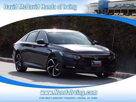 2020 Honda Accord for sale at DAVID McDAVID HONDA OF IRVING in Irving TX