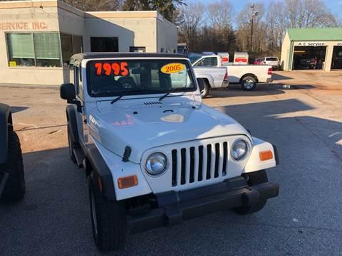 2005 Jeep Wrangler Sport for sale in Lyman, SC