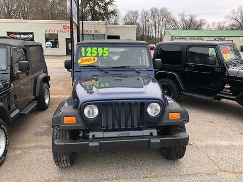 2003 Jeep Wrangler for sale in Lyman, SC