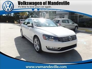 2013 Volkswagen Passat for sale in Mandeville, LA