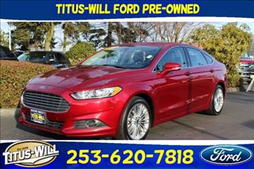 2014 Ford Fusion for sale in Tacoma, WA