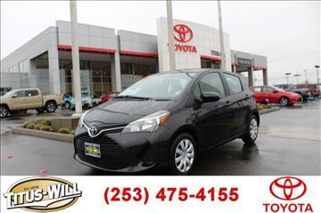 2015 Toyota Yaris for sale in Tacoma, WA