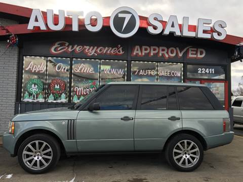2008 Land Rover Range Rover for sale in Hazel Park, MI