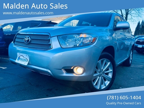 2008 Toyota Highlander Hybrid for sale at Malden Auto Sales in Malden MA