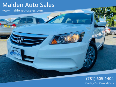 2012 Honda Accord for sale at Malden Auto Sales in Malden MA