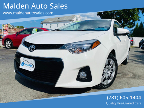 2015 Toyota Corolla for sale at Malden Auto Sales in Malden MA