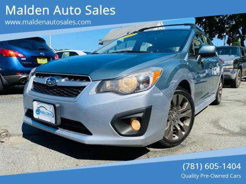 2012 Subaru Impreza for sale at Malden Auto Sales in Malden MA