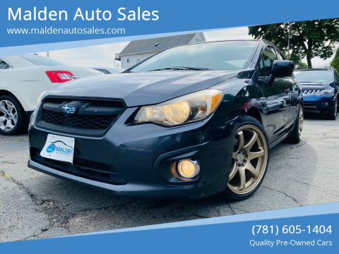 2012 Subaru Impreza for sale at Malden Auto Sales in Malden MA