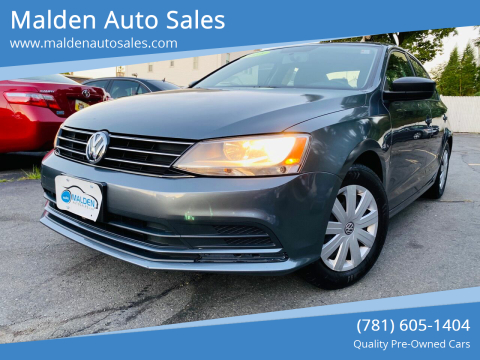 2015 Volkswagen Jetta for sale at Malden Auto Sales in Malden MA