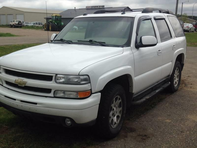 2004 Chevrolet Tahoe for sale at Toy Barn Motors in New York Mills MN