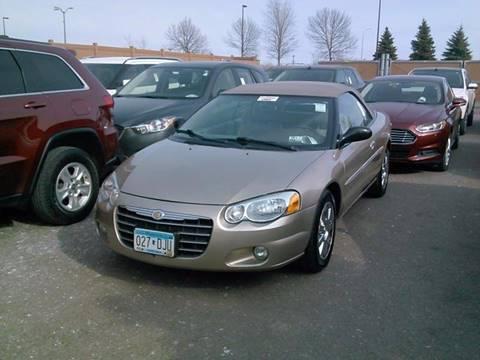 2004 Chrysler Sebring for sale at Toy Barn Motors in New York Mills MN
