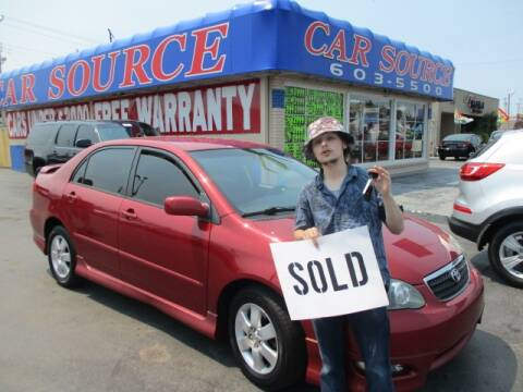 2006 Toyota Corolla for sale at CAR SOURCE OKC in Oklahoma City OK