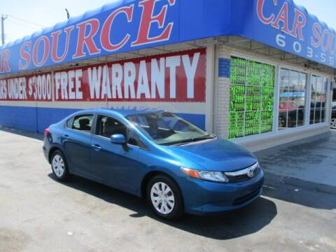 2012 Honda Civic for sale at CAR SOURCE OKC in Oklahoma City OK