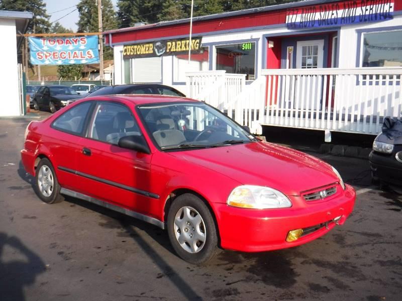 Perfect 1997 Honda Civic DX 2dr Coupe   Tacoma WA