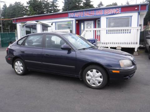 2005 Hyundai Elantra for sale at 777 Auto Sales and Service in Tacoma WA