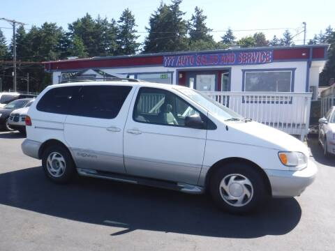 2000 Toyota Sienna for sale at 777 Auto Sales and Service in Tacoma WA