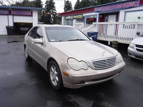 2001 Mercedes-Benz C-Class C 240 for sale at 777 Auto Sales and Service in Tacoma WA