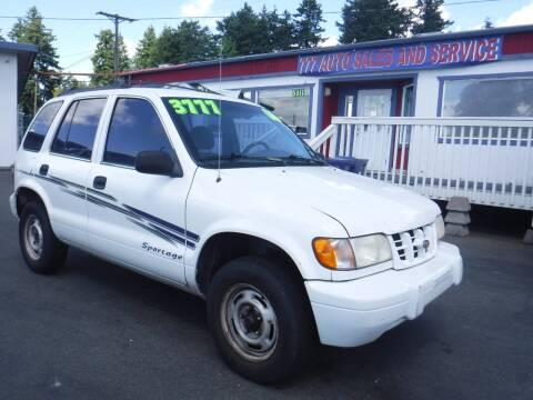 2000 Kia Sportage for sale at 777 Auto Sales and Service in Tacoma WA