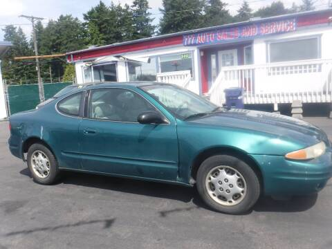 1999 Oldsmobile Alero for sale at 777 Auto Sales and Service in Tacoma WA