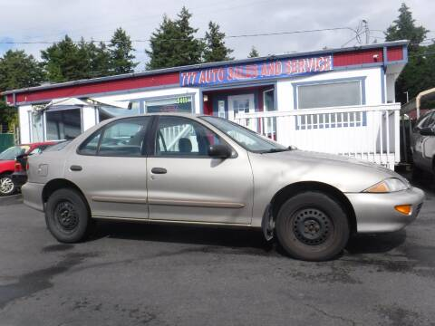1997 Chevrolet Cavalier for sale at 777 Auto Sales and Service in Tacoma WA