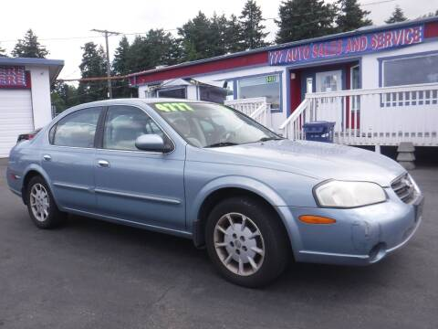 2001 Nissan Maxima for sale at 777 Auto Sales and Service in Tacoma WA