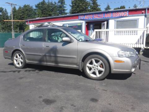 2003 Nissan Maxima for sale at 777 Auto Sales and Service in Tacoma WA