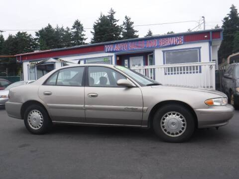 2000 Buick Century for sale at 777 Auto Sales and Service in Tacoma WA