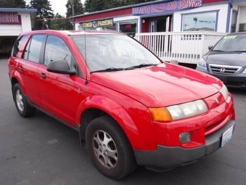 2002 Saturn Vue for sale at 777 Auto Sales and Service in Tacoma WA
