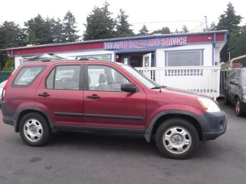 2006 Honda CR-V for sale at 777 Auto Sales and Service in Tacoma WA
