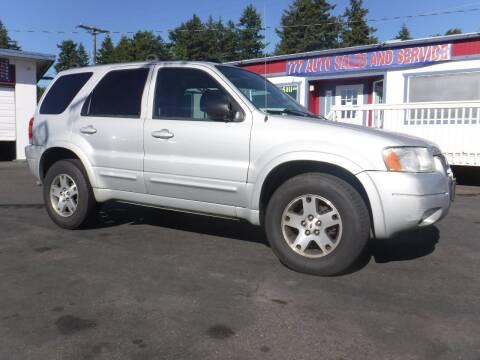 2003 Ford Escape for sale at 777 Auto Sales and Service in Tacoma WA