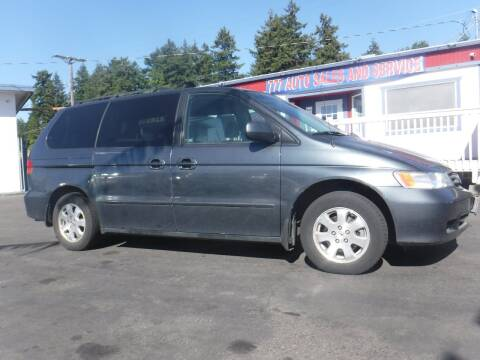 2003 Honda Odyssey for sale at 777 Auto Sales and Service in Tacoma WA