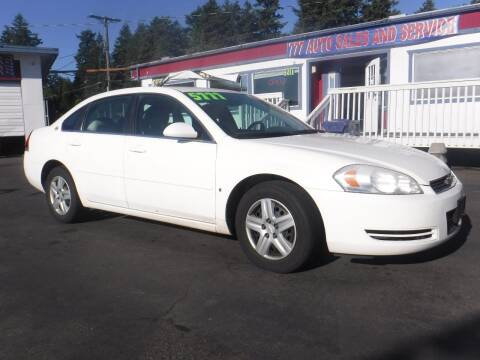 2007 Chevrolet Impala for sale at 777 Auto Sales and Service in Tacoma WA