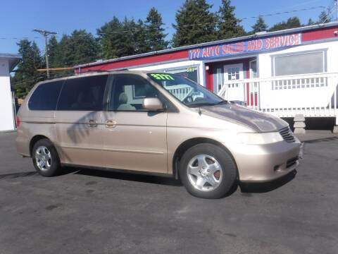 2000 Honda Odyssey for sale at 777 Auto Sales and Service in Tacoma WA