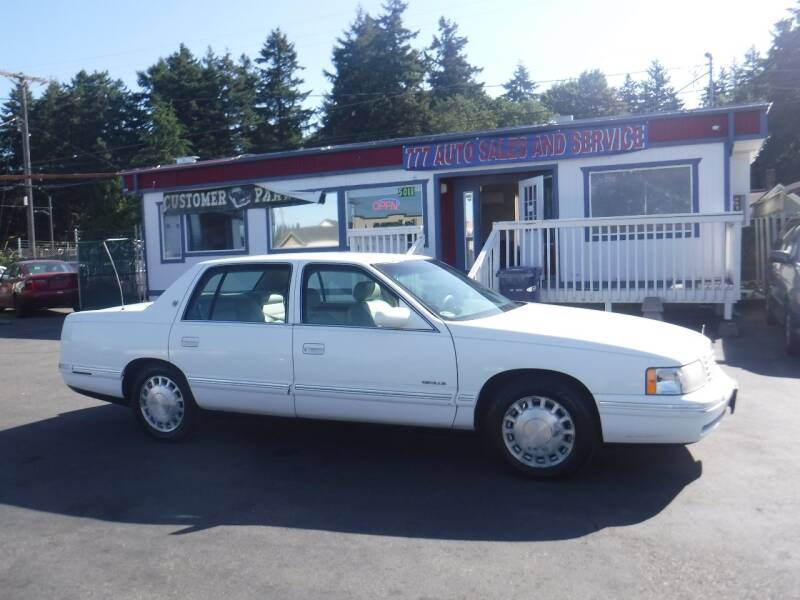 1998 Cadillac DeVille for sale at 777 Auto Sales and Service in Tacoma WA