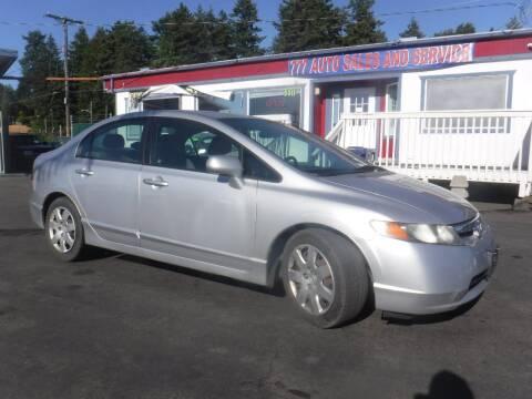 2006 Honda Civic for sale at 777 Auto Sales and Service in Tacoma WA