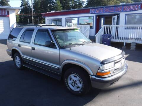 2000 Chevrolet Blazer for sale at 777 Auto Sales and Service in Tacoma WA