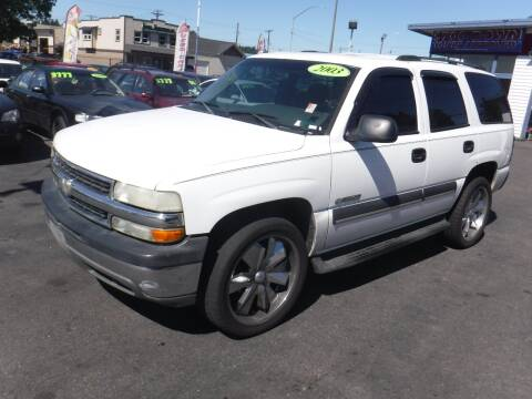 2003 Chevrolet Tahoe for sale at 777 Auto Sales and Service in Tacoma WA