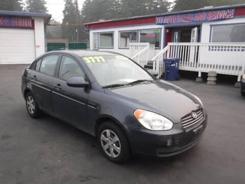 2008 Hyundai Accent for sale at 777 Auto Sales and Service in Tacoma WA