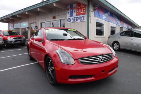 2003 Infiniti G35 for sale at 777 Auto Sales and Service in Tacoma WA
