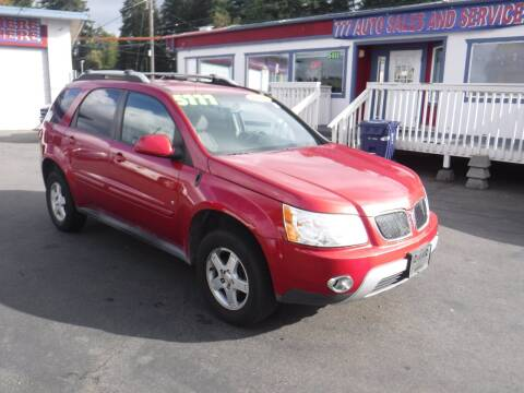 2006 Pontiac Torrent for sale at 777 Auto Sales and Service in Tacoma WA