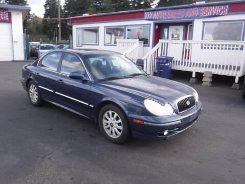 2002 Hyundai Sonata for sale at 777 Auto Sales and Service in Tacoma WA