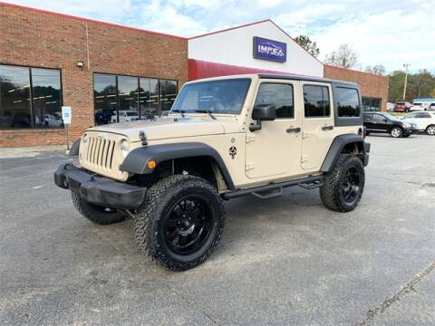Used Jeep Wrangler For Sale Nc >> 2016 Jeep Wrangler Unlimited For Sale In Greensboro Nc