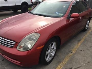 2003 Infiniti G35 for sale at Best Royal Car Sales in Dallas TX