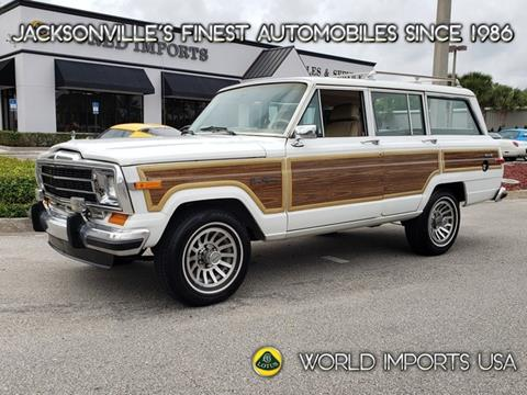 Jeep Grand Wagoneer For Sale >> 1990 Jeep Grand Wagoneer For Sale In Jacksonville Fl