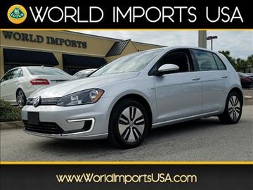 2016 Volkswagen e-Golf for sale in Jacksonville, FL