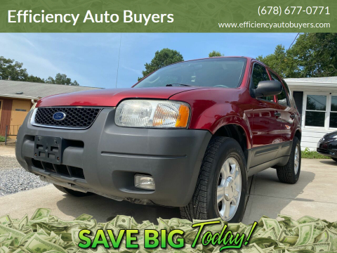 2003 Ford Escape for sale at Efficiency Auto Buyers in Milton GA