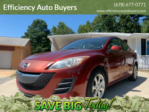 2010 Mazda MAZDA3 for sale at Efficiency Auto Buyers in Milton GA