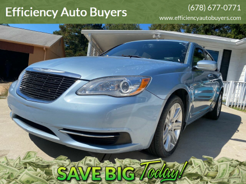 2013 Chrysler 200 for sale at Efficiency Auto Buyers in Milton GA